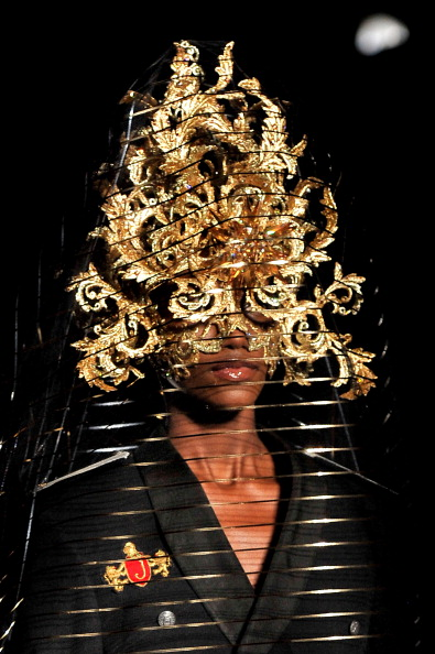 Philip Treacy. London Fashion Week Spring/Summer 2013. The Royal Courts Of Justice. (Photo by Gareth Cattermole/Getty Images)