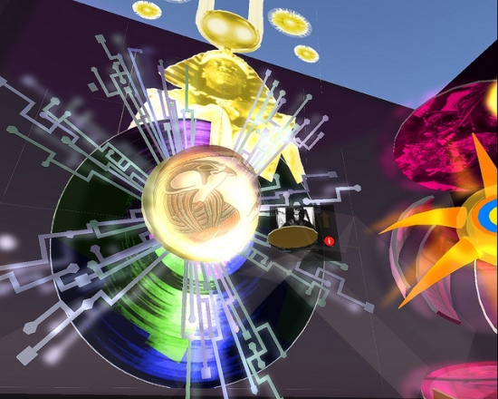 "Nettrice Gaskins. ""Sun Ra Scepter,"" 2010. IBM Exhibition Space, Second Life."