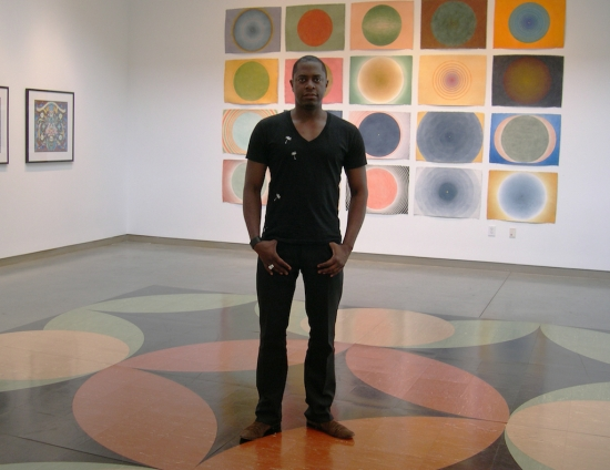 Sanford Biggers at The Contemporary Mandala show, 2012.