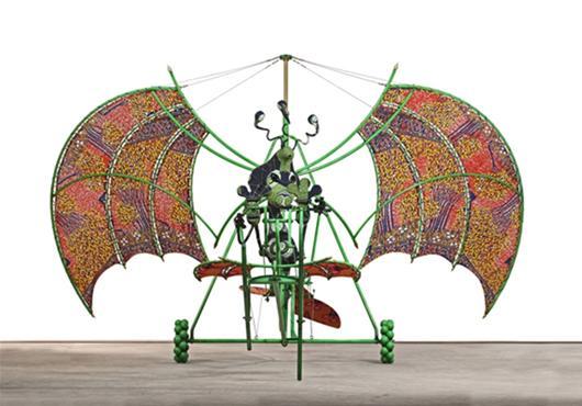 "Yinka Shonibare, MBE. ""Alien Man on Flying Machine,"" 2011. Courtesy of the artist and Anna Schwartz Gallery, Sydney."