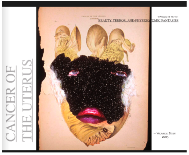 "Wangechi Mutu. ""Cancer of the Uterus,"" 2005. Image courtesy of Jessica N. Bell."