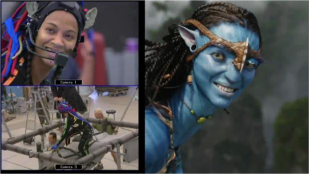 Zoe Saldana and mocap (motion capture) in Avatar ().