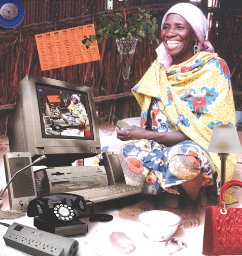 "Fatimah Tuggar. ""Working Woman,"" 1997."