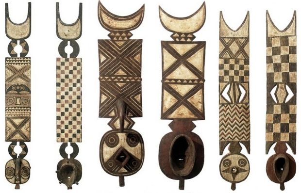 Post-colonial Bwa plank masks from Burkina Faso.