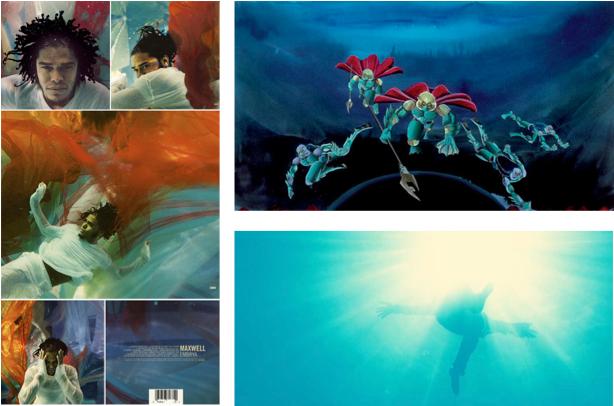"Maxwell's ""Embrya,""; Drexciya's ""Neptune's Lair,"" 1999, by Abdul Qadim Haqq; Khalil Joseph's ""Until the Quiet Comes,"" 2012."
