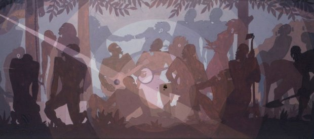 "Aaron Douglas. Study for ""Aspects of Negro Life: An Idyll of the Deep South"" (1934)."