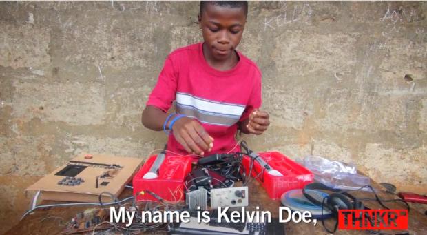 Kelvin Doe. D.I.Y. engineer from Sierra Leone.
