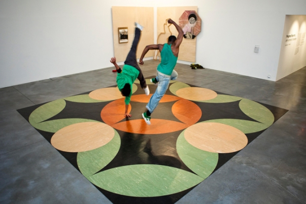 "Sanford Biggers, in collaboration with David Ellis. ""Mandala of the B-Bodhisattva II,"" 2010. Photo: George Torode"