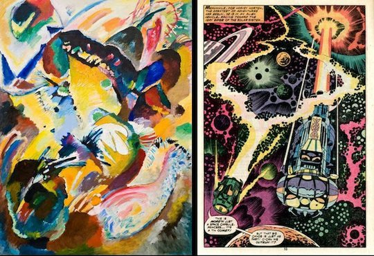Wassily Kandinsky / Panel for Edwin R. Campbell, no. 2, 1914 with Jack Kirby / 2001: A Space Odyssey, 1977