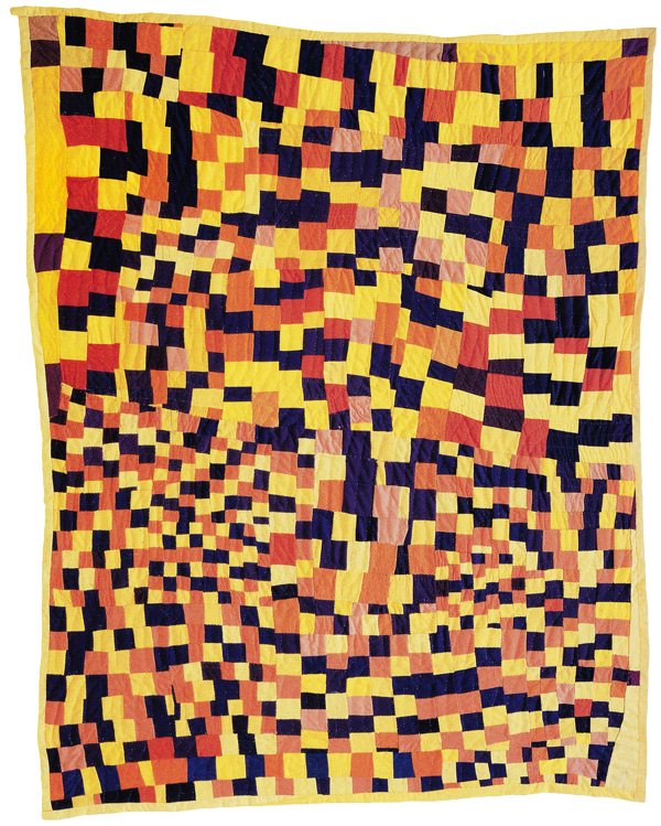 """Three Sixes,"" 1996-97. Pieced by Rosie Lee Tompkins, Richmond, California, 1987.  Quilted by Willia Ette Graham and Johnnie Wade, Oakland, California, 1996."