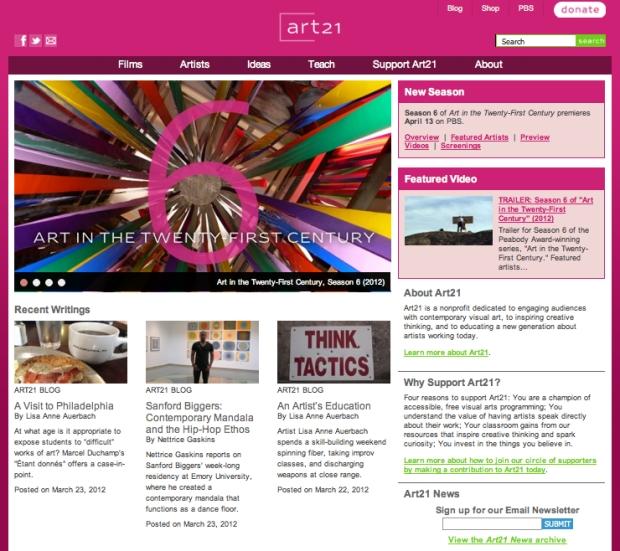 My Art21 blog feature.
