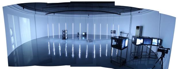 DXARTS immersive audiovisual media studio.