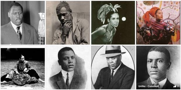 Actor Paul Robeson (1898-1976), dancer Carmen De Lavallade (1931-), and filmmaker Oscar Micheaux (1884-1951).